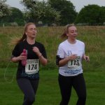 Sarah and Abbey running