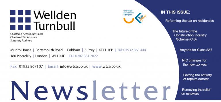 Wellden Turnbull Chartered Accountants Spring Newsletter 2015