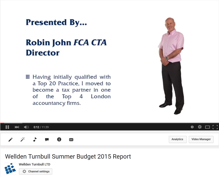 Wellden Turnbull 2015 Summer Budget Video