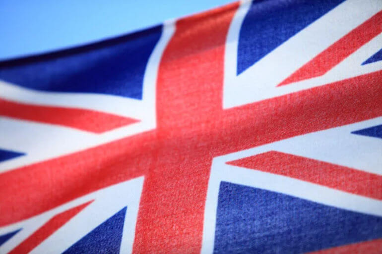 British business abroad - the United Kingdom Flag
